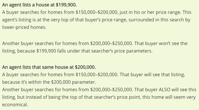 How to decide on real estate listing price. Nashville. TN.